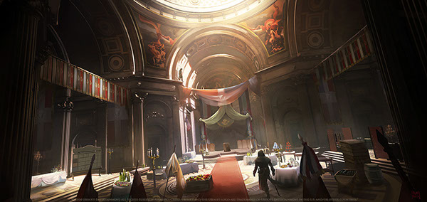 Assassin's Creed Unity concept art by Nacho Yague [Via behance.net/nachoyague]