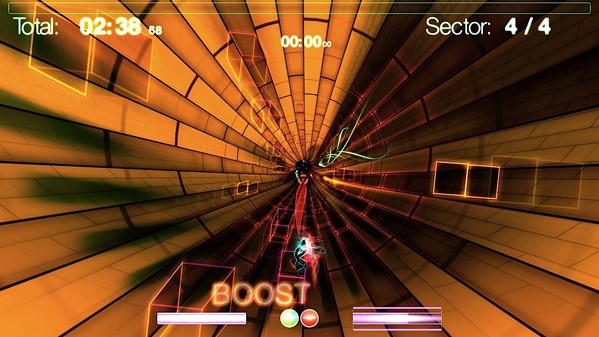 Dyad – Shawn McGrath (Toronto) The game most likely to make you feel like you've ingested some doctored fruit punch, Dyad is a music-powered racing game that you have to play to understand. Is it a work of art like its fans claim? For sure it's a load of excitement. [Image: engadget.com]